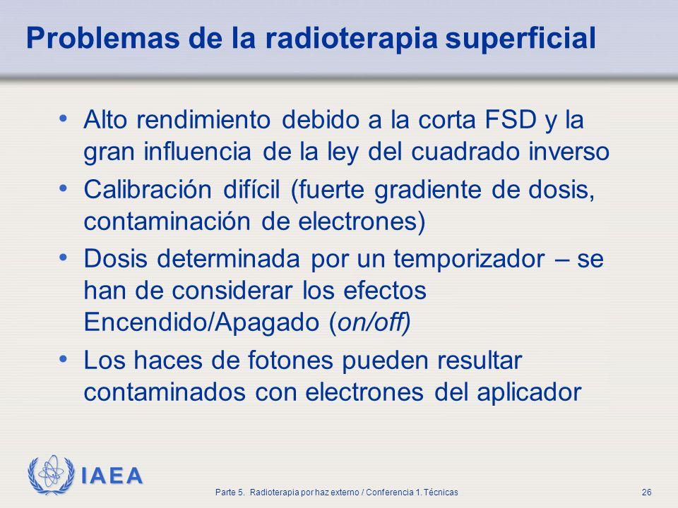 Problemas de la radioterapia superficial