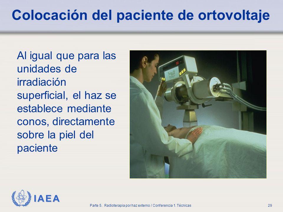 Colocación del paciente de ortovoltaje