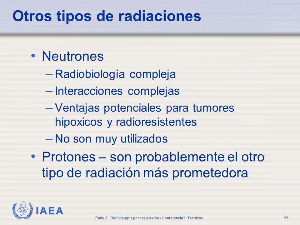 Otros tipos de radiaciones