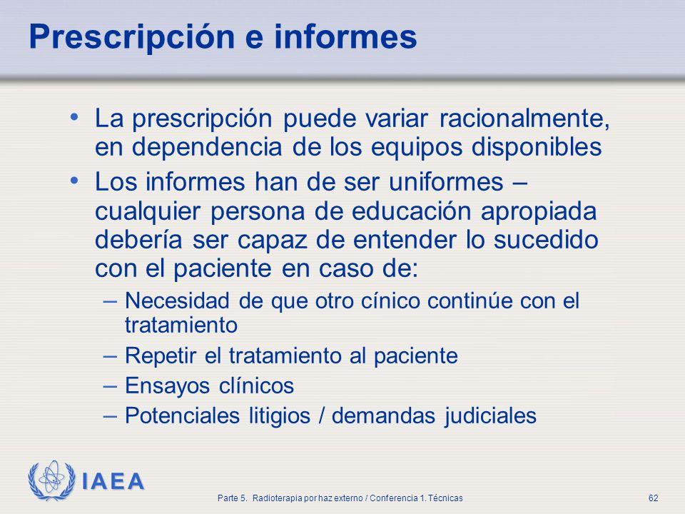 Prescripción e informes