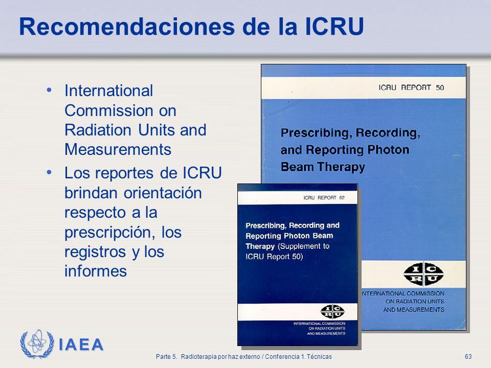 Recomendaciones de la ICRU