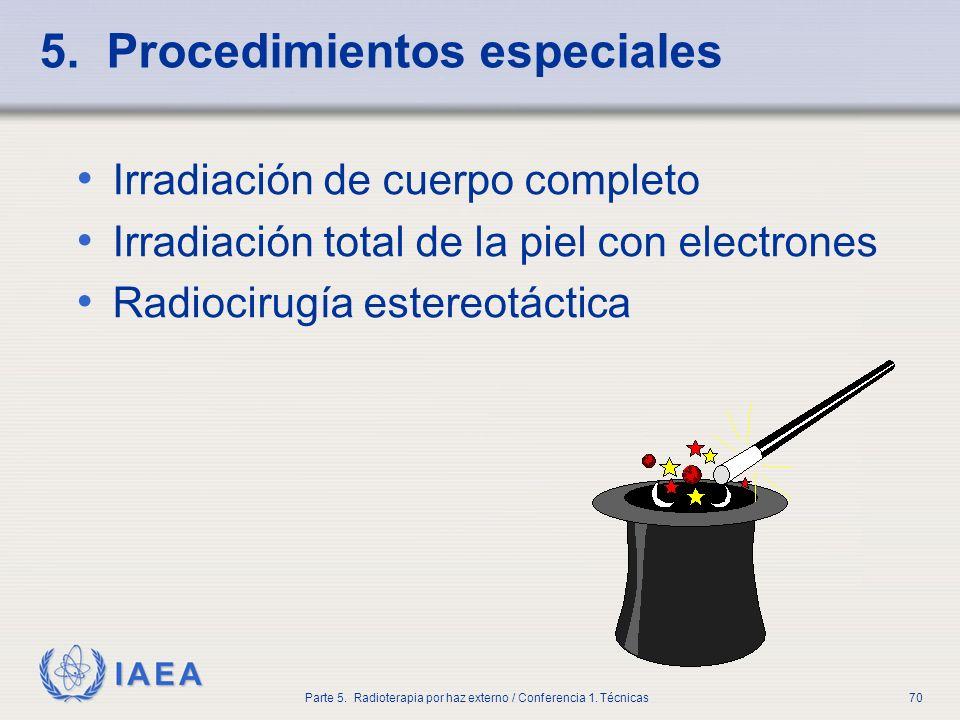 5. Procedimientos especiales