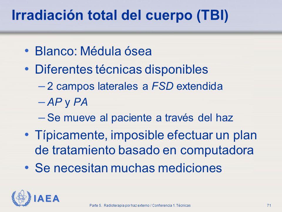 Irradiación total del cuerpo (TBI)
