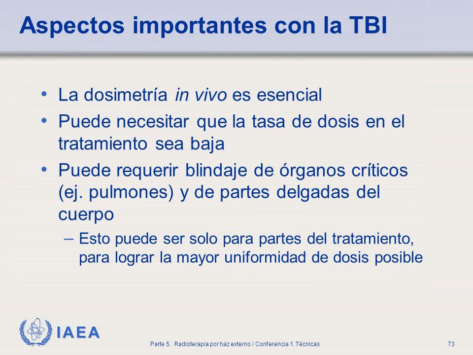 Aspectos importantes con la TBI