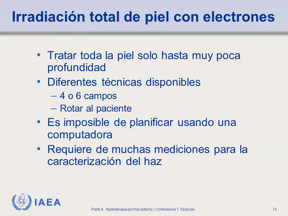 Irradiación total de piel con electrones