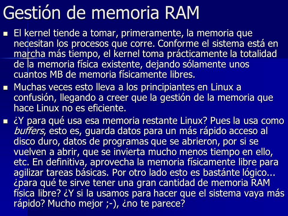Gestión de memoria RAM