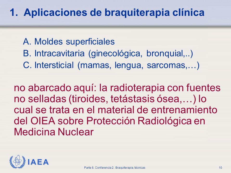 1. Aplicaciones de braquiterapia clínica