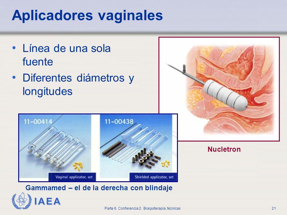 Aplicadores vaginales