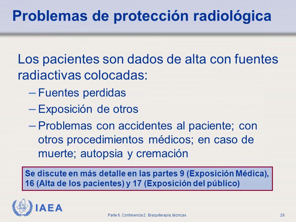 Problemas de protección radiológica