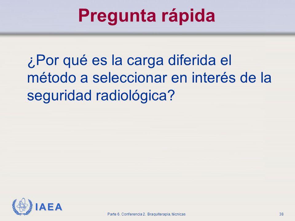 Pregunta rápida ¿Por qué es la carga diferida el método a seleccionar en interés de la seguridad radiológica