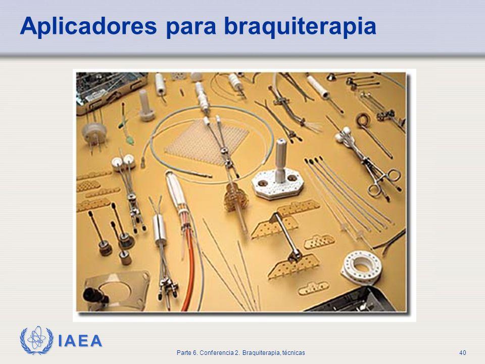 Aplicadores para braquiterapia