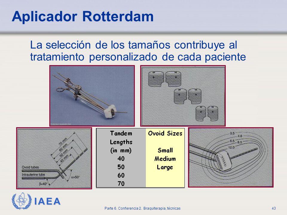 Aplicador RotterdamLa selección de los tamaños contribuye al tratamiento personalizado de cada paciente.