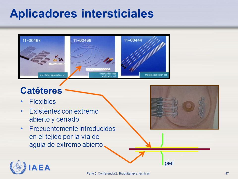 Aplicadores intersticiales