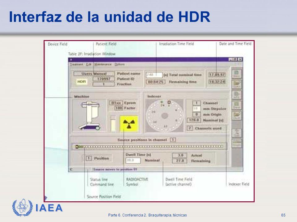 Interfaz de la unidad de HDR