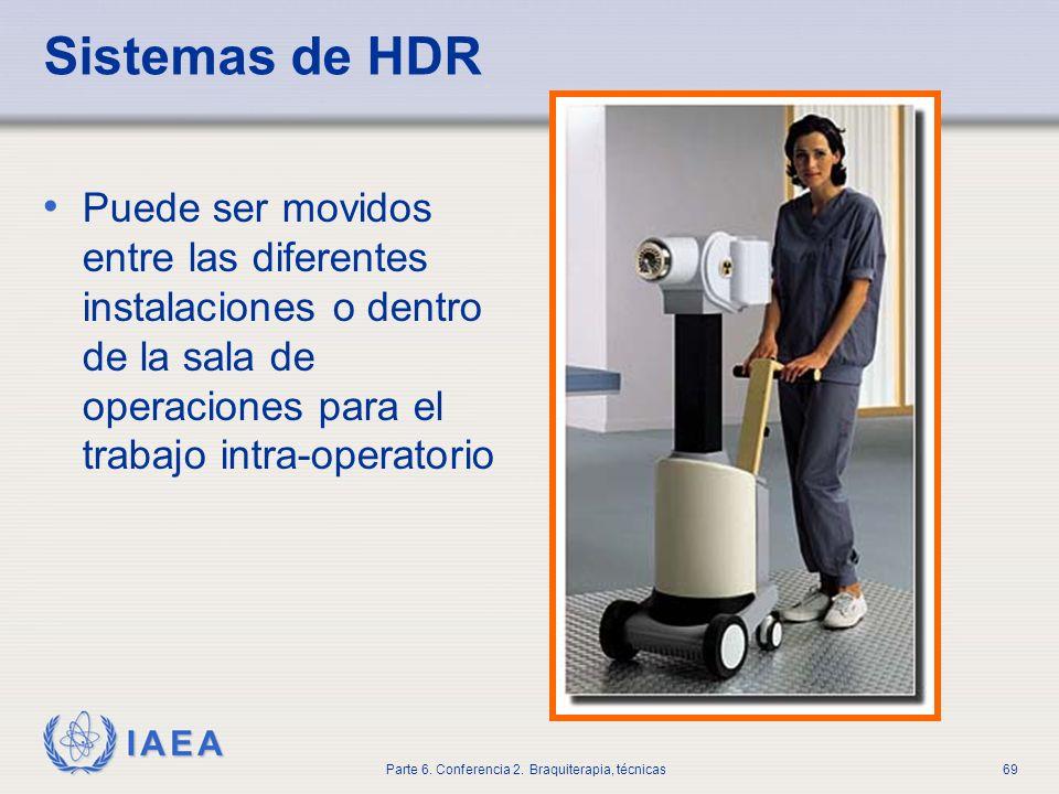 Sistemas de HDR Puede ser movidos entre las diferentes instalaciones o dentro de la sala de operaciones para el trabajo intra-operatorio.