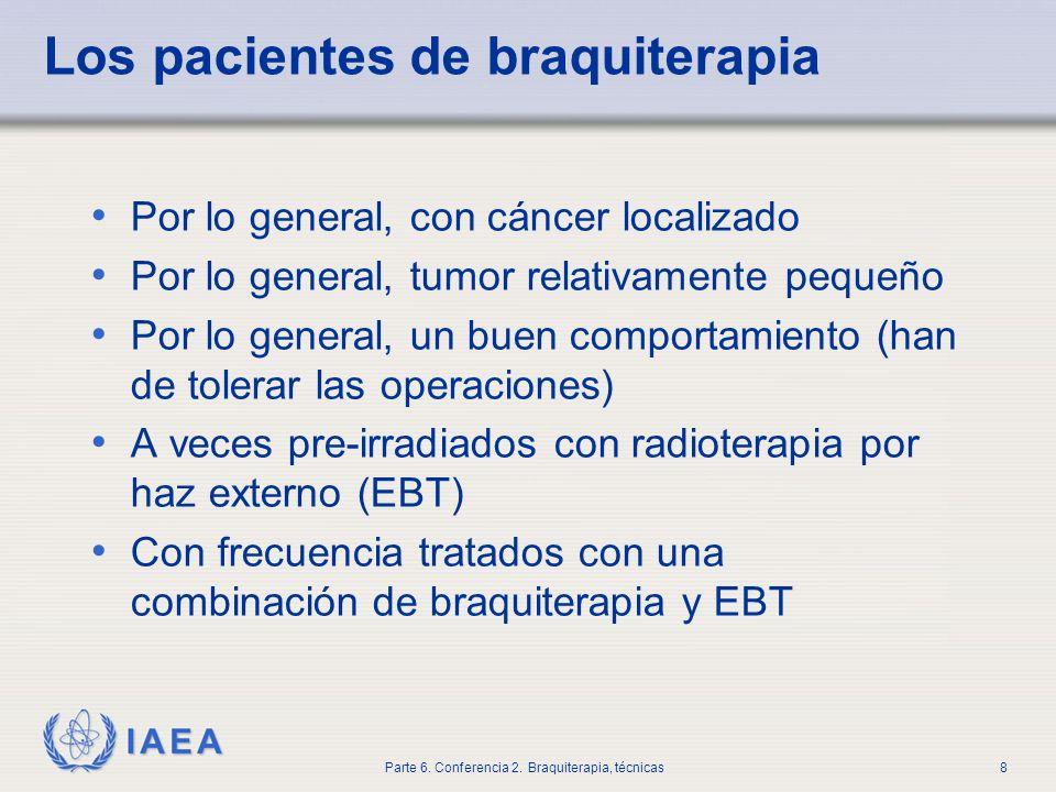 Los pacientes de braquiterapia