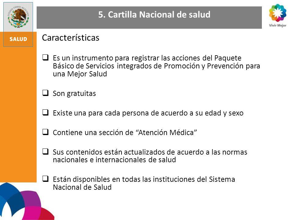 5. Cartilla Nacional de salud