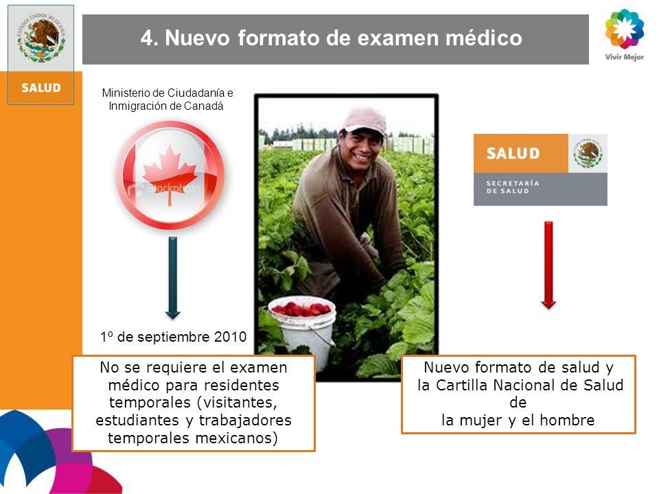4. Nuevo formato de examen médico