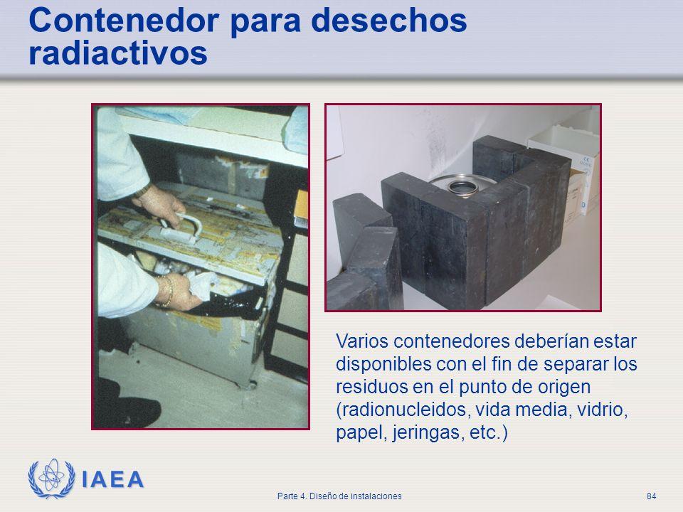 Contenedor para desechos radiactivos