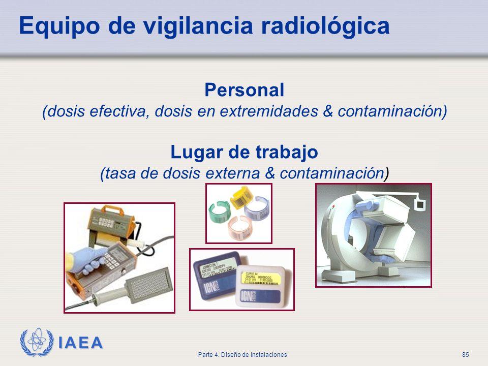 Equipo de vigilancia radiológica