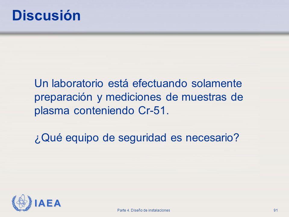 Discusión Un laboratorio está efectuando solamente