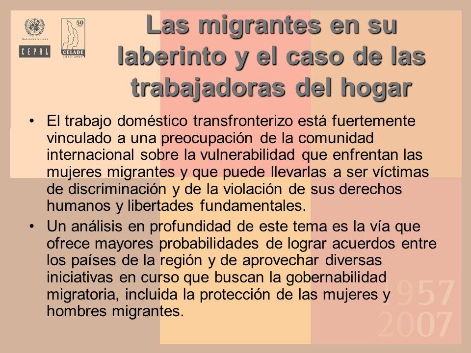 Las migrantes en su laberinto y el caso de las trabajadoras del hogar