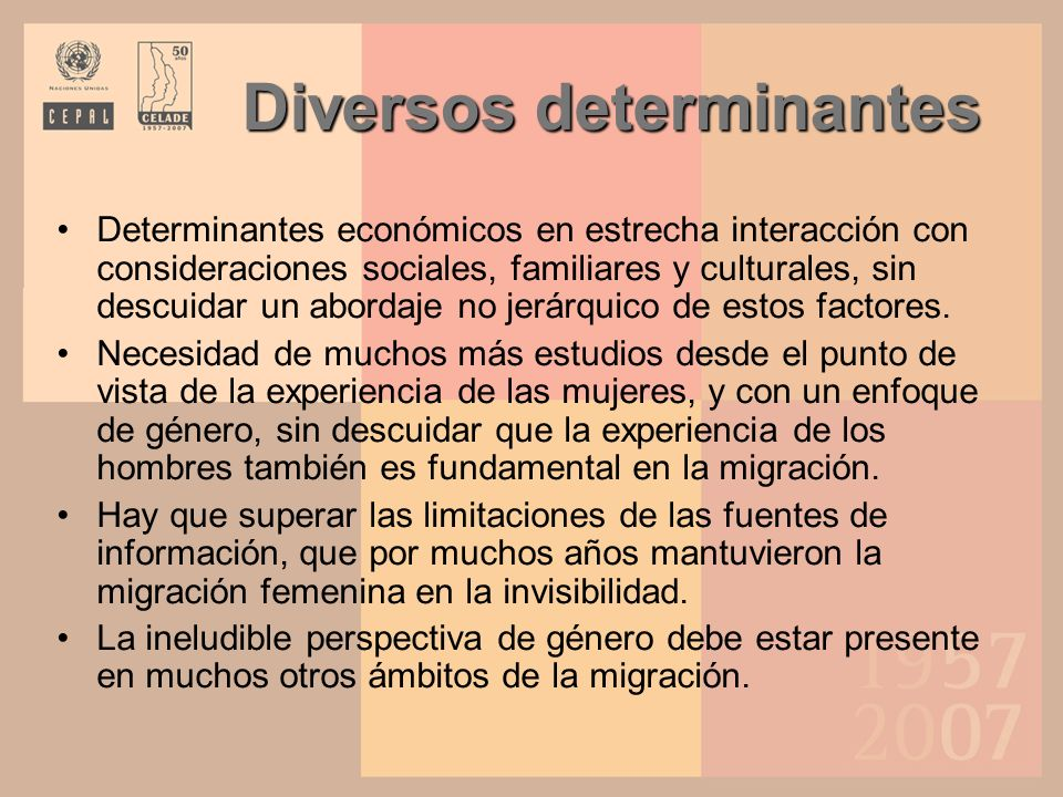 Diversos determinantes