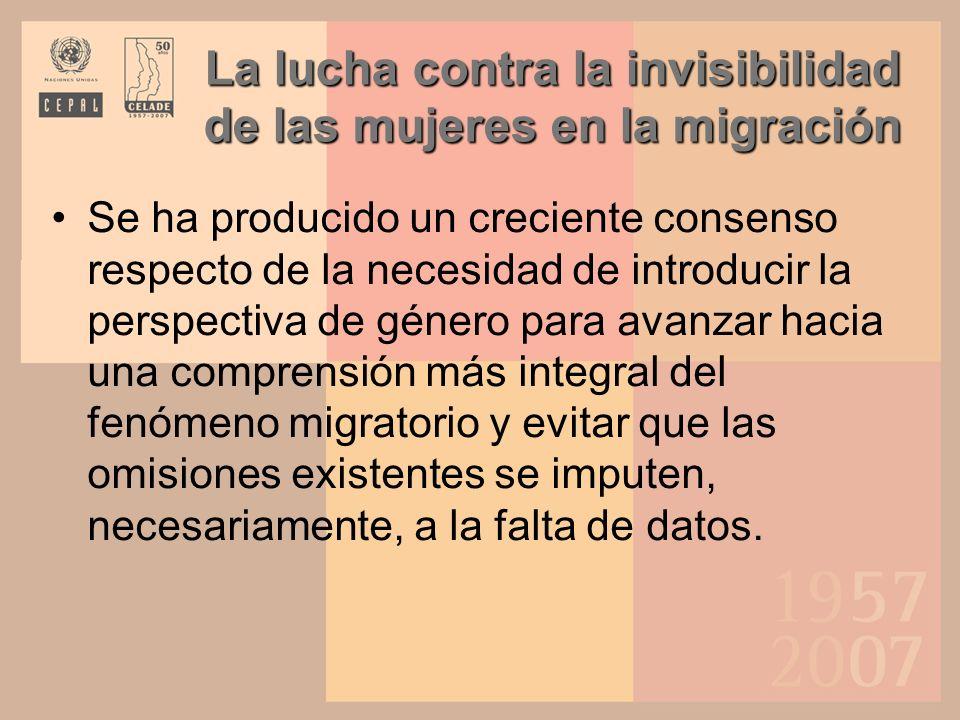La lucha contra la invisibilidad de las mujeres en la migración