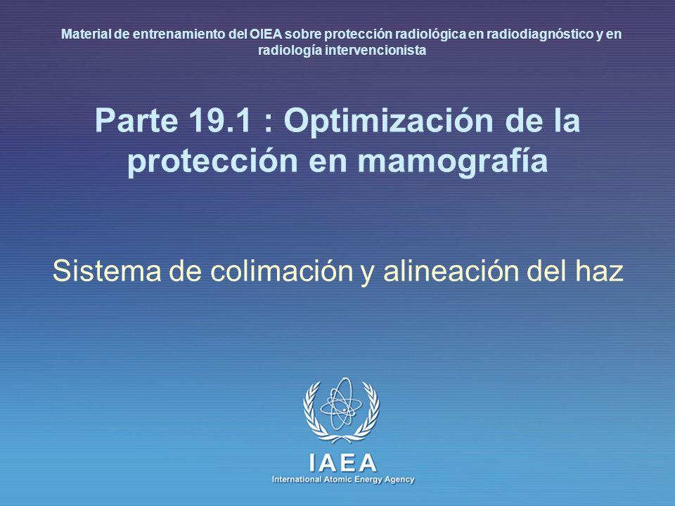 Parte 19.1 : Optimización de la protección en mamografía