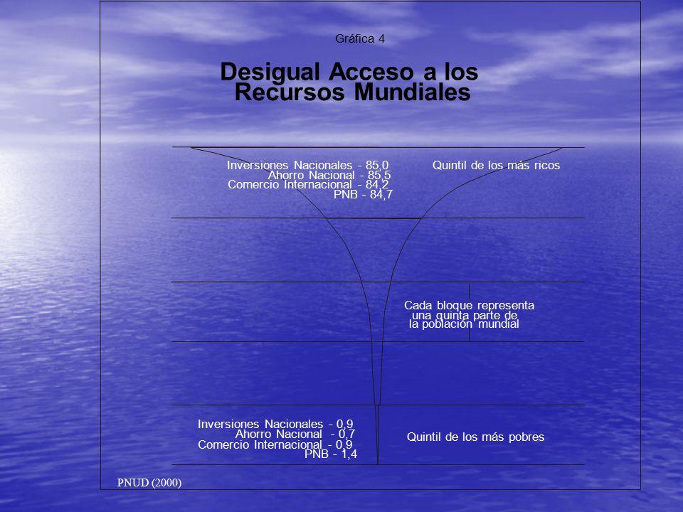 Desigual Acceso a los Recursos Mundiales Gráfica 4