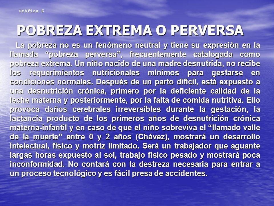 POBREZA EXTREMA O PERVERSA