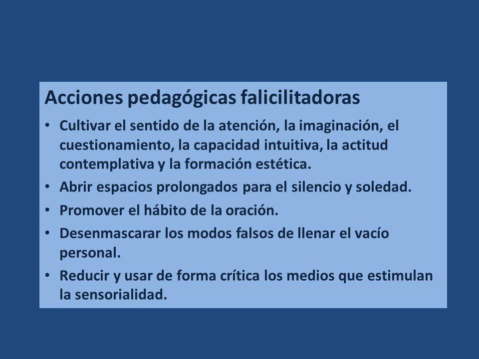 Acciones pedagógicas falicilitadoras