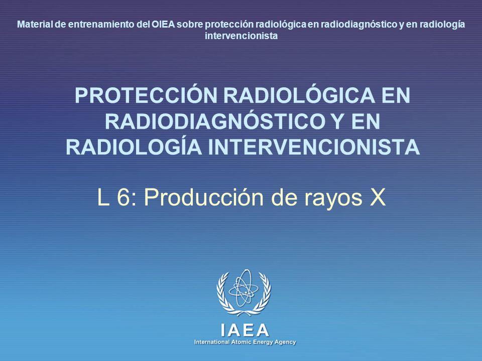 Part No...., Module No....Lesson No L 6: Producción de rayos X
