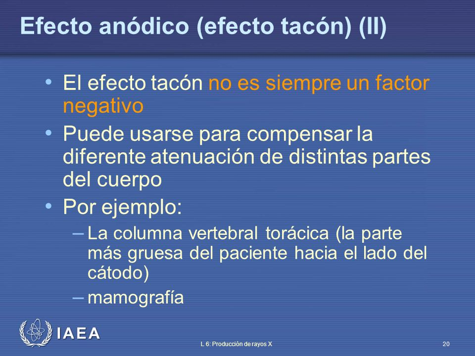 Efecto anódico (efecto tacón) (II)