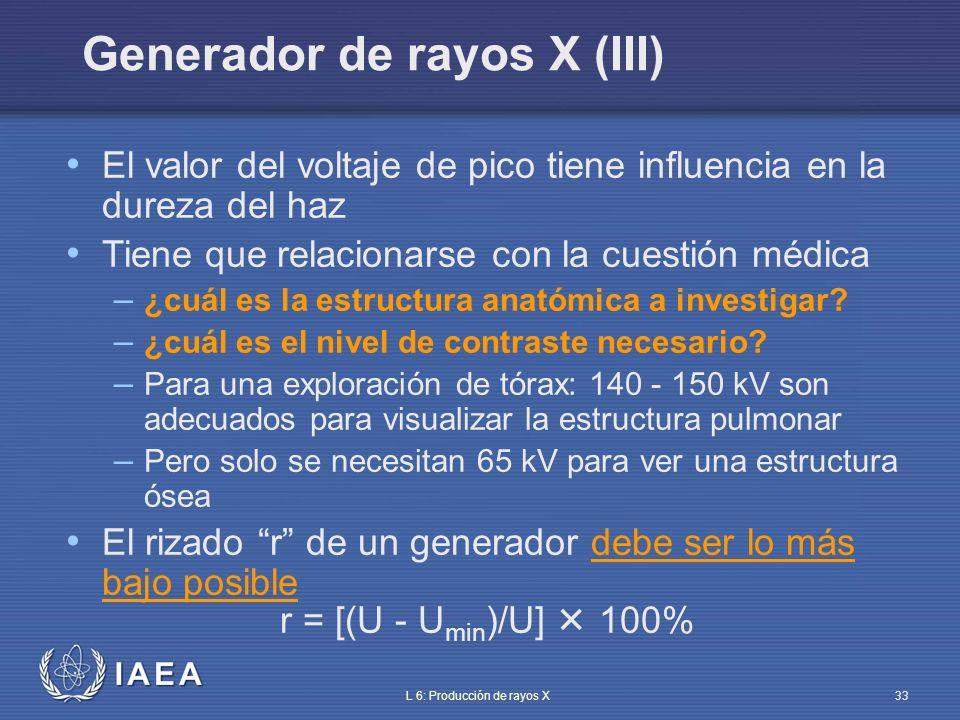 Generador de rayos X (III)