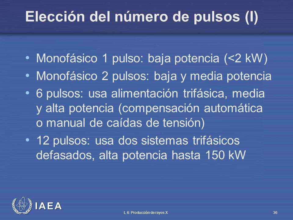 Elección del número de pulsos (I)