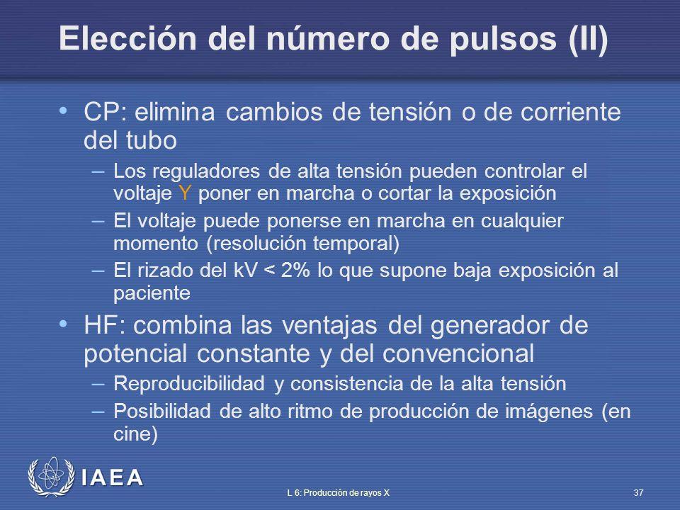 Elección del número de pulsos (II)