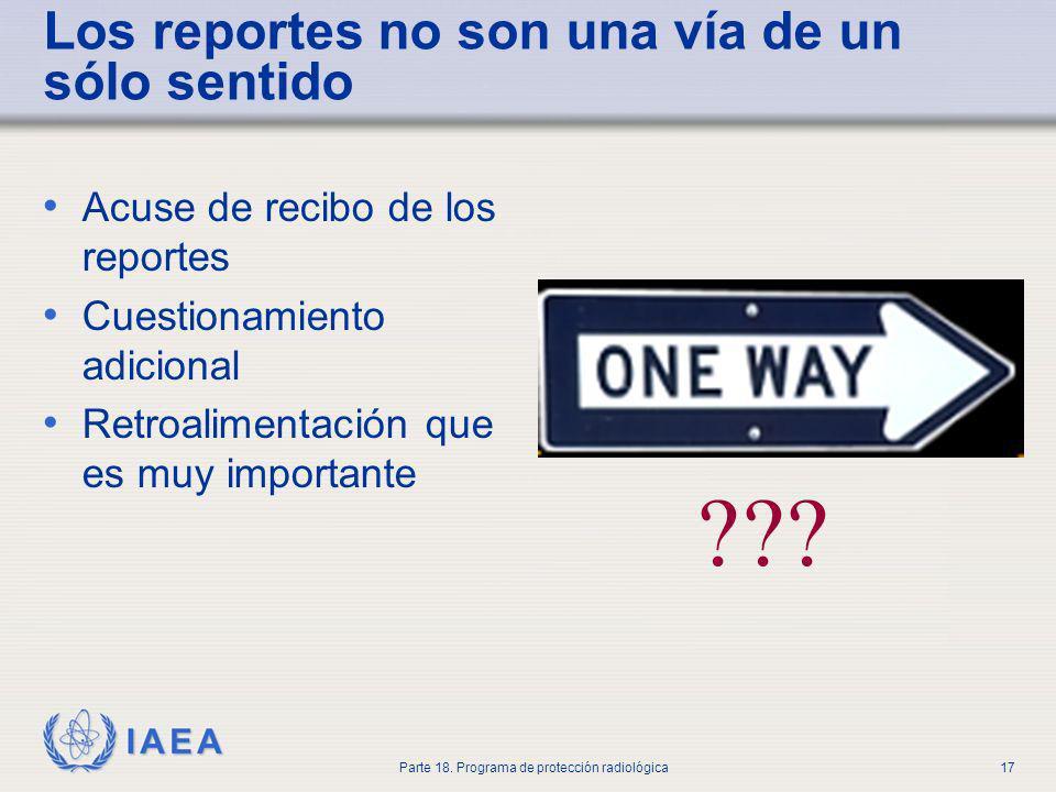 Los reportes no son una vía de un sólo sentido