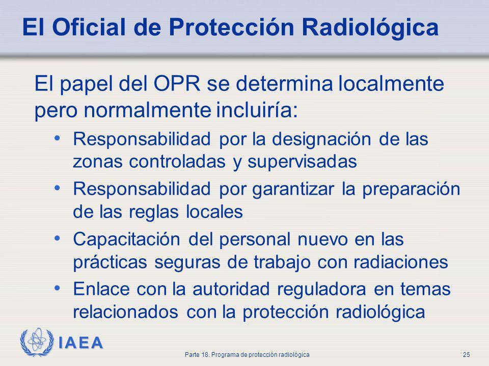 El Oficial de Protección Radiológica
