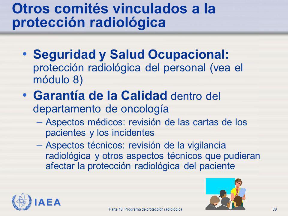 Otros comités vinculados a la protección radiológica