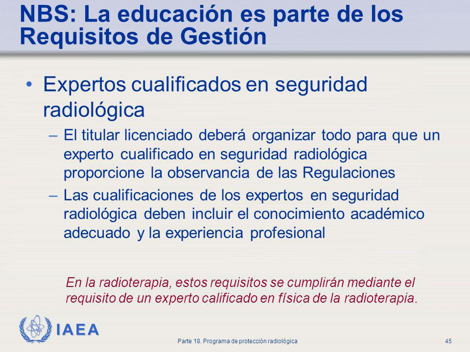 NBS: La educación es parte de los Requisitos de Gestión