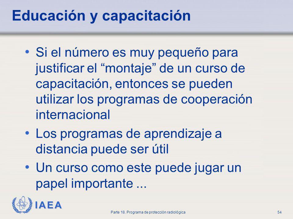 Educación y capacitación