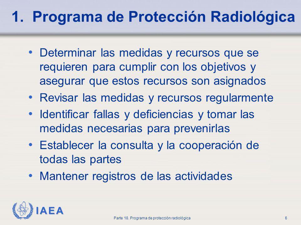 1. Programa de Protección Radiológica