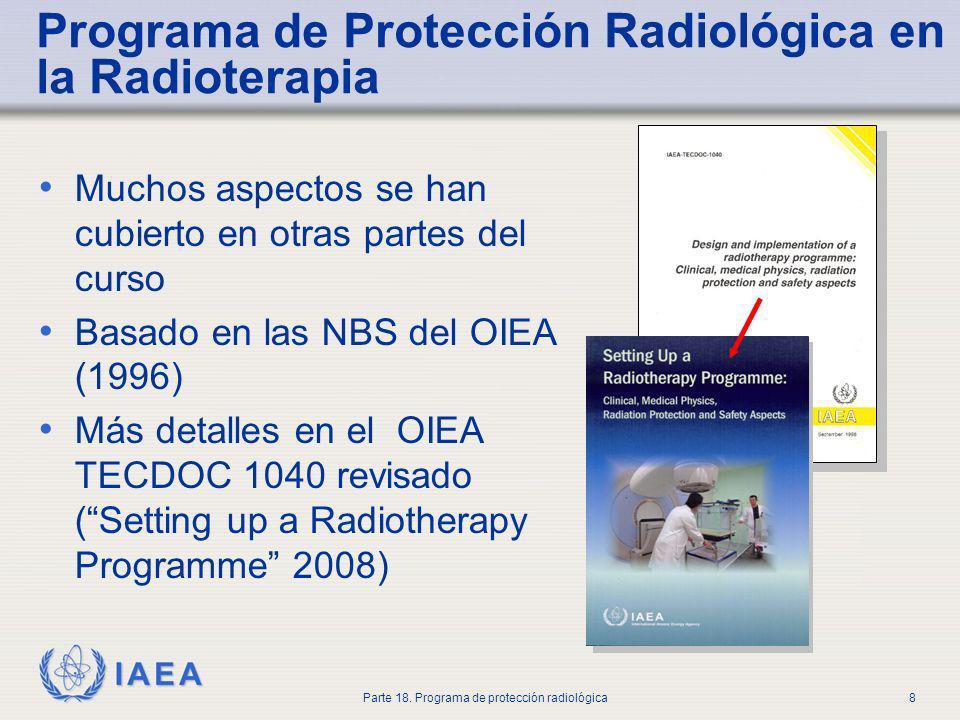 Programa de Protección Radiológica en la Radioterapia