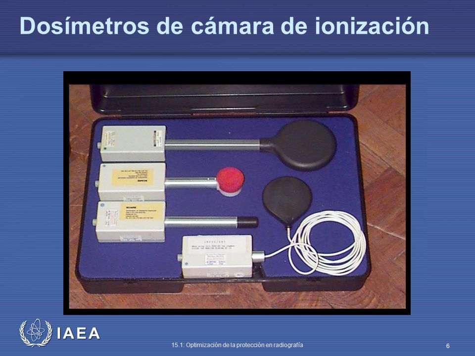 Dosímetros de cámara de ionización