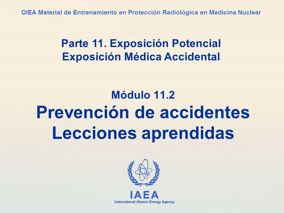 Módulo 11.2 Prevención de accidentes Lecciones aprendidas