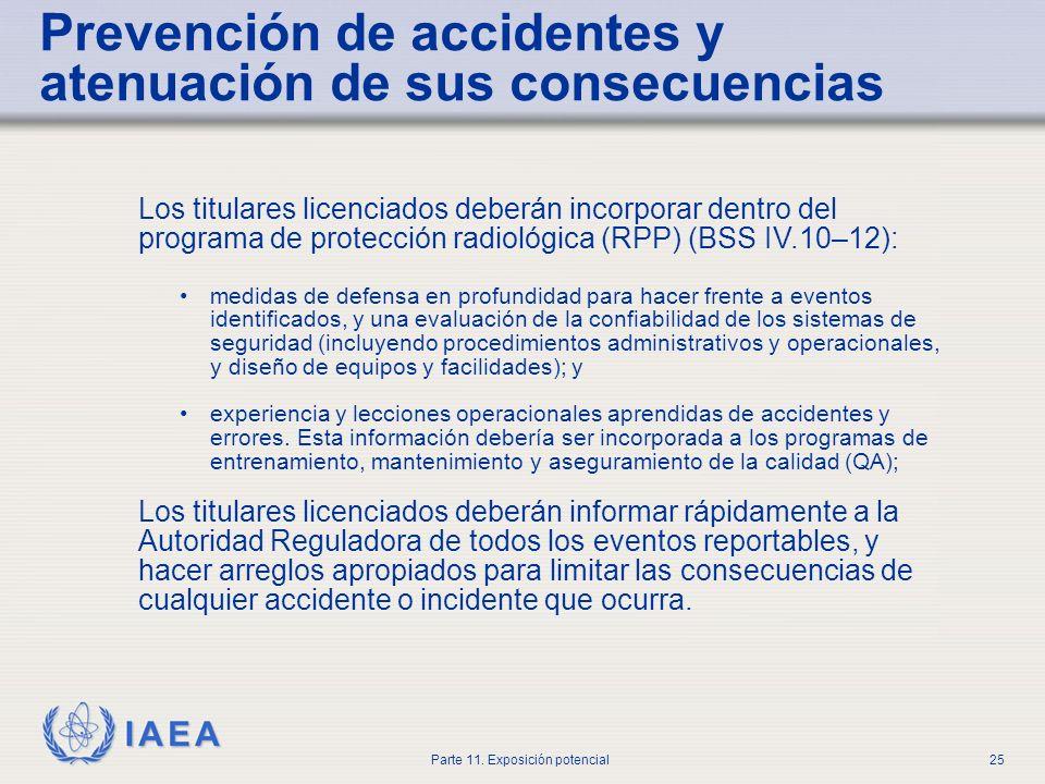 Prevención de accidentes y atenuación de sus consecuencias