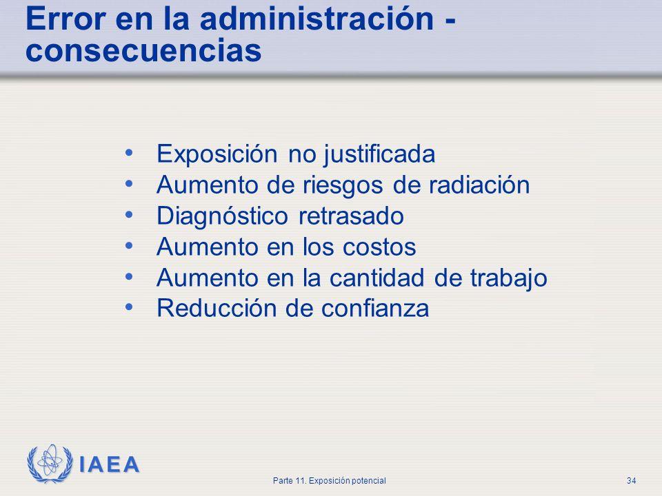 Error en la administración - consecuencias