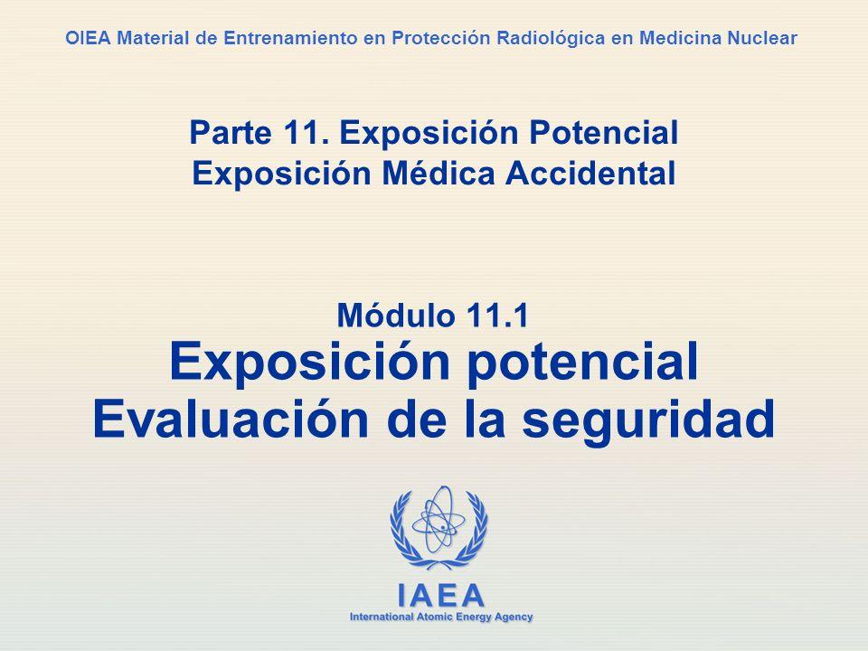 Parte 11. Exposición Potencial Exposición Médica Accidental