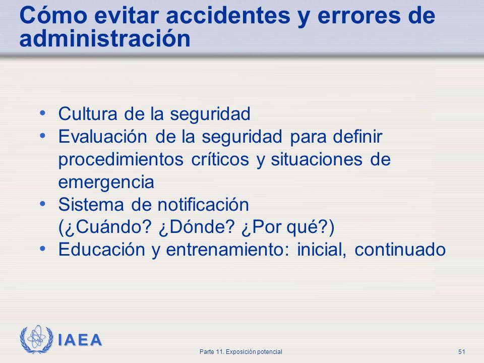 Cómo evitar accidentes y errores de administración